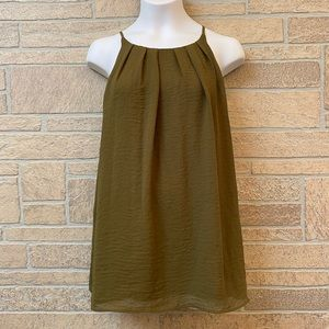 VINCE CAMUTO Pleated Shell Tank Top